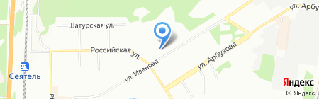 Вектор на карте Новосибирска