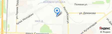 Компас-Восток на карте Новосибирска