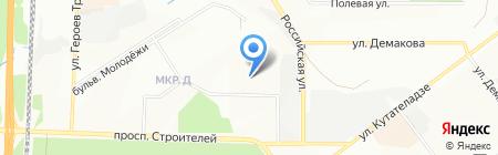 Акварель на карте Новосибирска