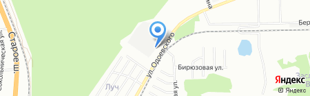 Лесной дворик на карте Новосибирска