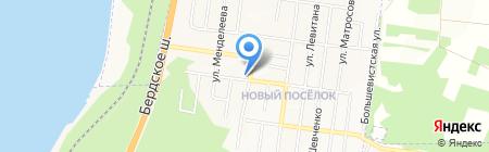 Магазин отделочных материалов и инструмента на карте Бердска