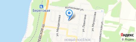 Средняя общеобразовательная школа №4 на карте Бердска