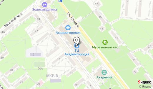 Торговый центр. Схема проезда в Новосибирске