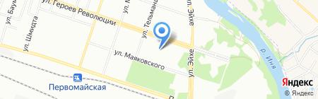 Бэст-Лэнд на карте Новосибирска