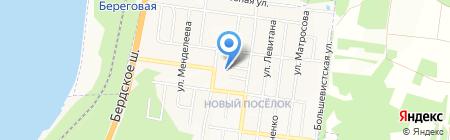 Октябрь на карте Бердска