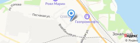 Продуктовый магазин на ул. Северный микрорайон на карте Бердска