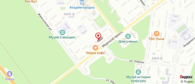 Карта расположения пункта доставки Новосибирск Морской в городе Новосибирск