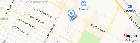 Модный силуэт на карте Бердска