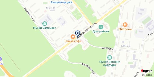 НОВОСИБИРСКИЙ ХОСПИС на карте Новосибирске