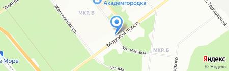 Дельта на карте Новосибирска