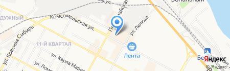 Салон белорусской женской одежды на карте Бердска