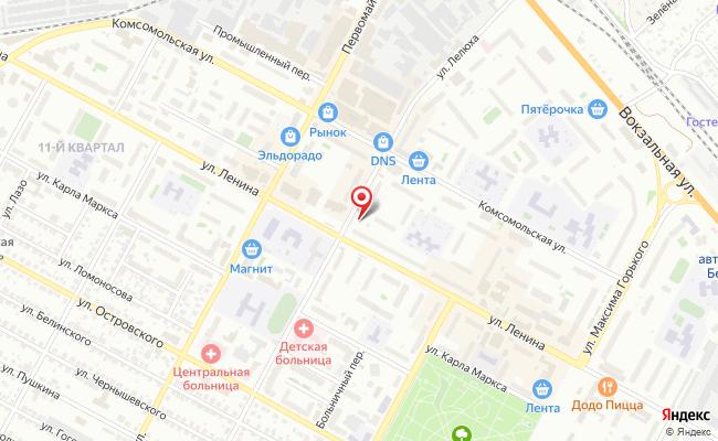 Карта расположения пункта доставки СИТИЛИНК в городе Бердск
