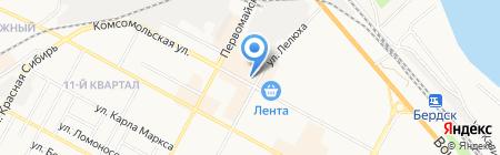 Мясной погребок на карте Бердска