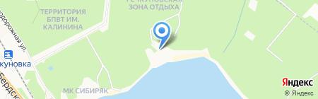 Лазурный берег на карте Бердска