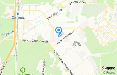 Местоположение на карте пункта техосмотра по адресу г Новосибирск, ул Кутателадзе, д 7/4