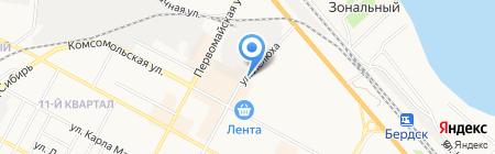 Киоск по продаже печатной продукции на карте Бердска