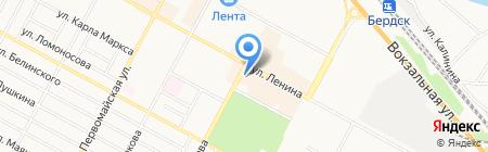 Центральная детская библиотека на карте Бердска