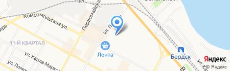 Ремонтная мастерская на карте Бердска
