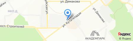 Сибтроут на карте Новосибирска