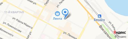Привет на карте Бердска