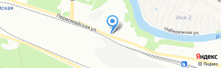 Тополёк на карте Новосибирска