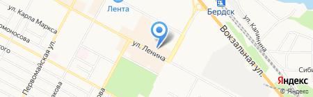 Банк Горящих Туров на карте Бердска