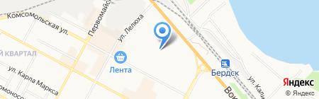 Детский сад №12 на карте Бердска