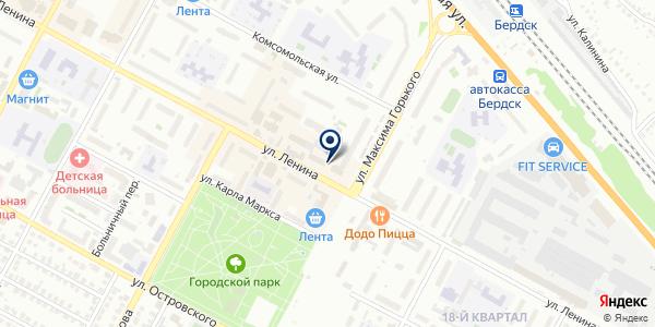 Серебряная иголочка на карте Бердске