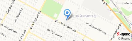 Азимут на карте Бердска