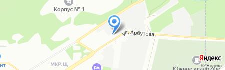 Антарес на карте Новосибирска
