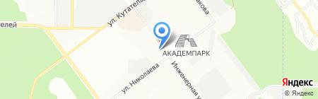 Миллаб на карте Новосибирска
