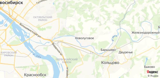 Новолуговое на карте