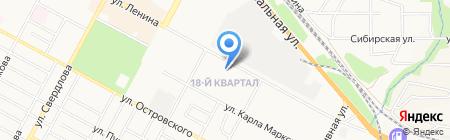 Лицей-интернат №7 на карте Бердска