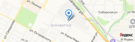 Киоск по продаже мороженого на карте Бердска