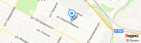 Любава на карте Бердска