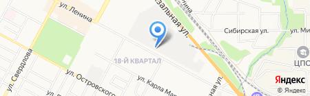 Окна-Бердск на карте Бердска