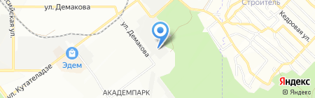 Академ-Строй на карте Новосибирска