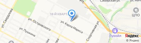 Комплексный центр социального обслуживания населения г. Бердска на карте Бердска