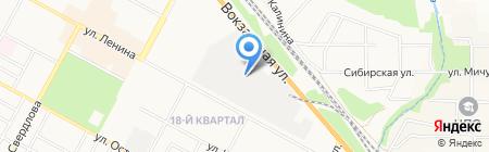 Сибирский печатный двор на карте Бердска