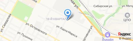 Берлога на карте Бердска