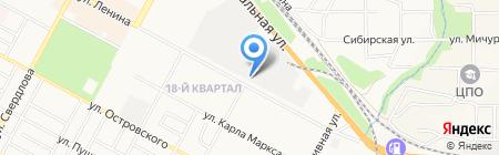Бином на карте Бердска
