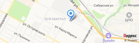 Магазин автотоваров на карте Бердска