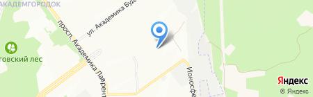 Международный центр аэрофизических исследований на карте Новосибирска