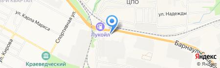 Радуга на карте Бердска