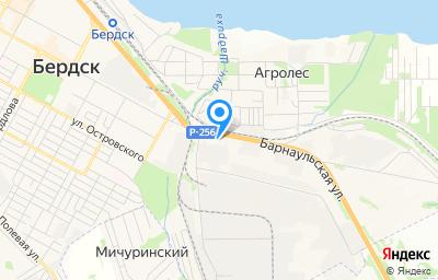 Местоположение на карте пункта техосмотра по адресу Новосибирская обл, г Бердск, зона Промышленная, д 1А