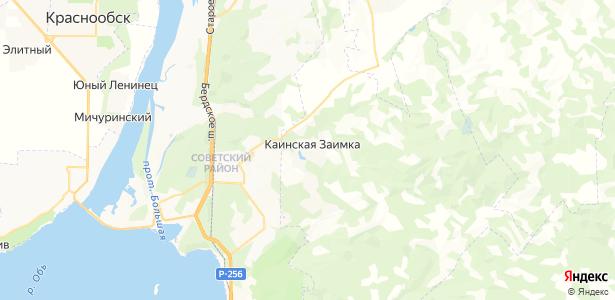 Каинская Заимка на карте