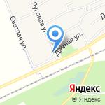 Октябрьская на карте Октябрьского