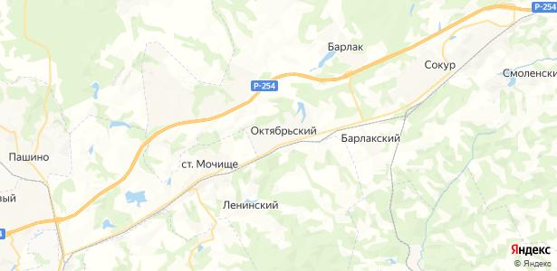 Октябрьский на карте