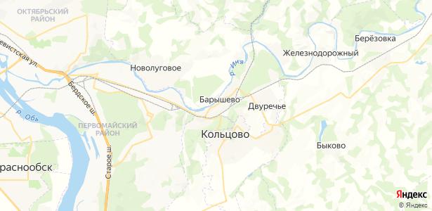 Барышево на карте