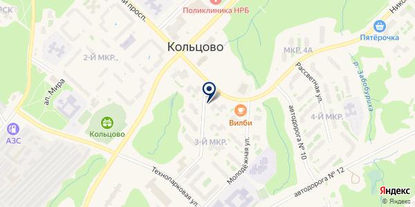 Проспект на карте Кольцово